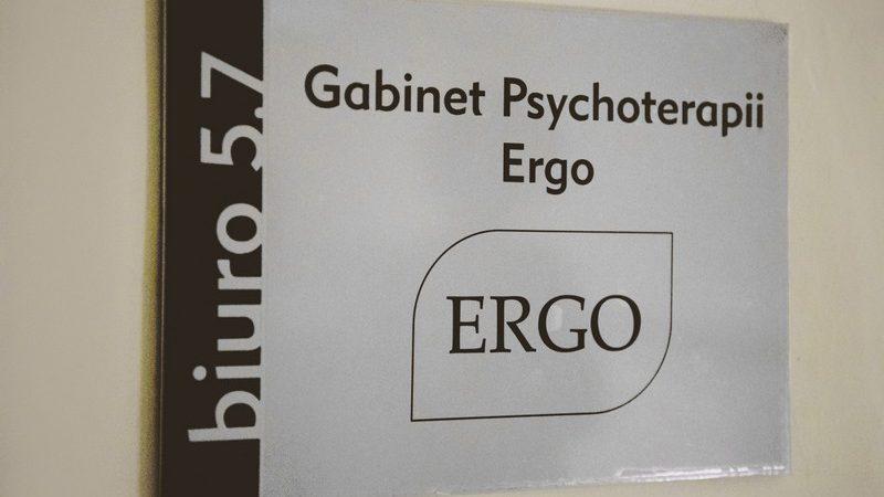 Tabliczka gabinet ERGO